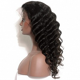 Brazilian Hair Full Lace Wig Lace Front wigs silky straight Wave