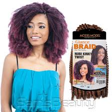 MODEL MODEL SYNTHETIC HAIR BRAIDS GLANCE NUBI KINKY TWIST